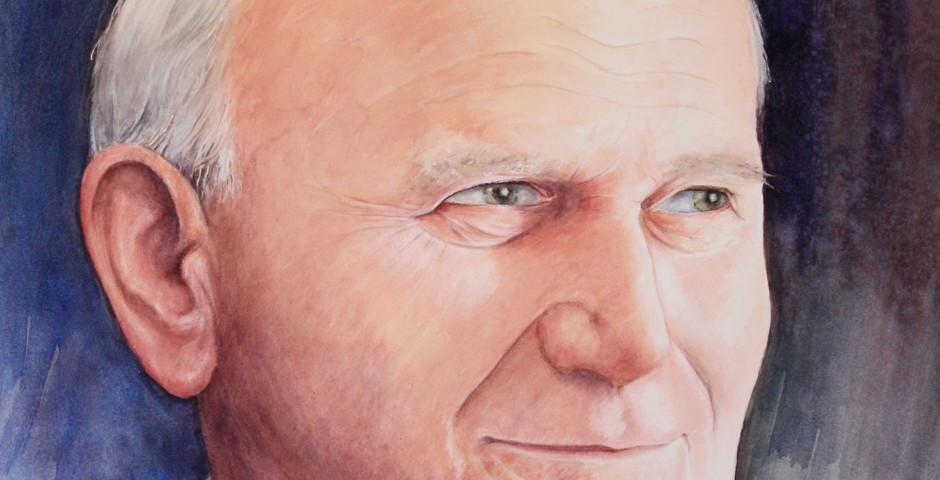 Papa Giovanni Paolo II - acuqerello 75x55 - 2010