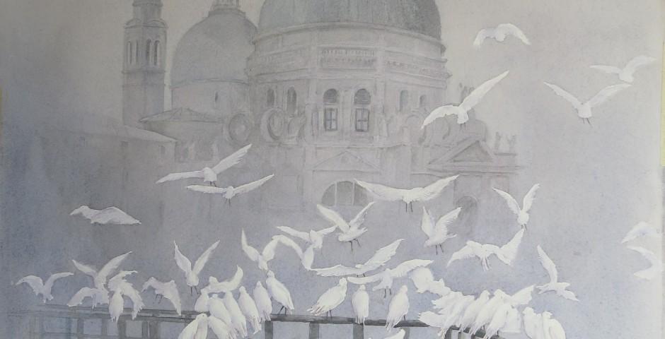 S.Maria della Salute - acquarello 60x50 - 2015