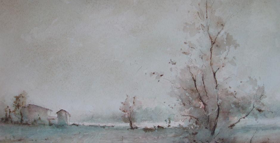 campagna - acquarello 42x54 - 1990