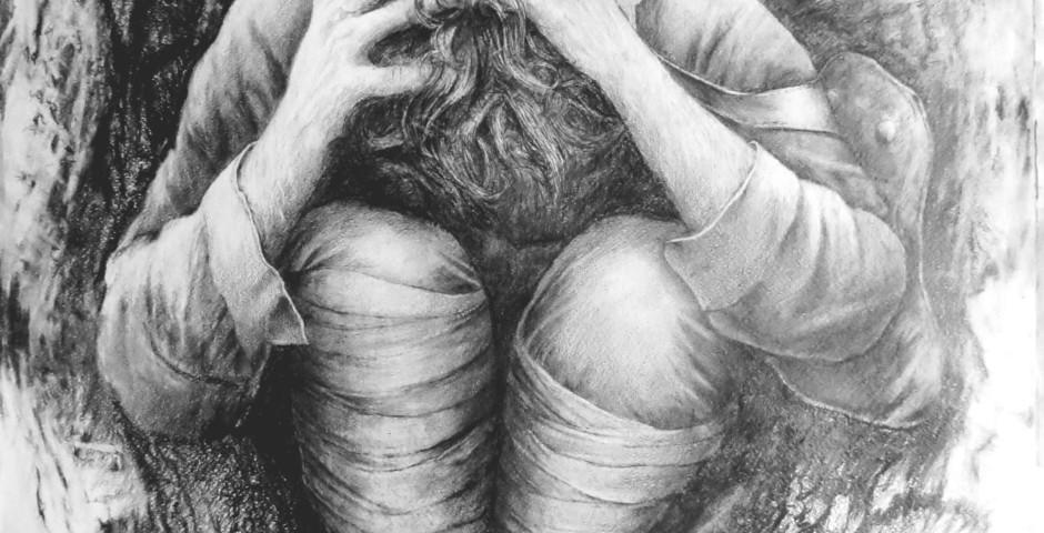 disperazione -disegno a matita 75x55 - 2015
