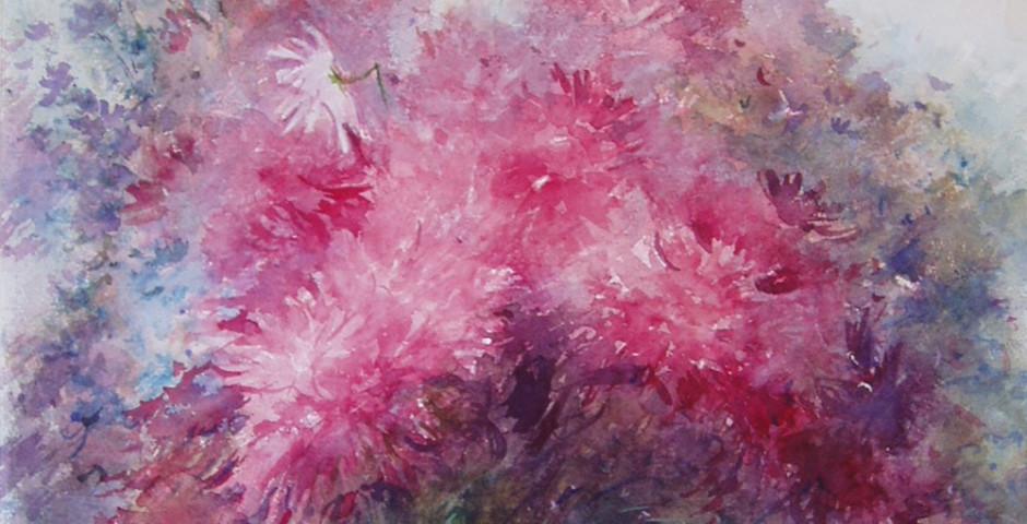 fiori di campo - acquarello 60x50 -1995