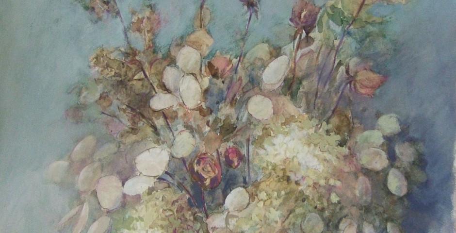 fiori secchi - acrilico su carta 55x65 - 2000