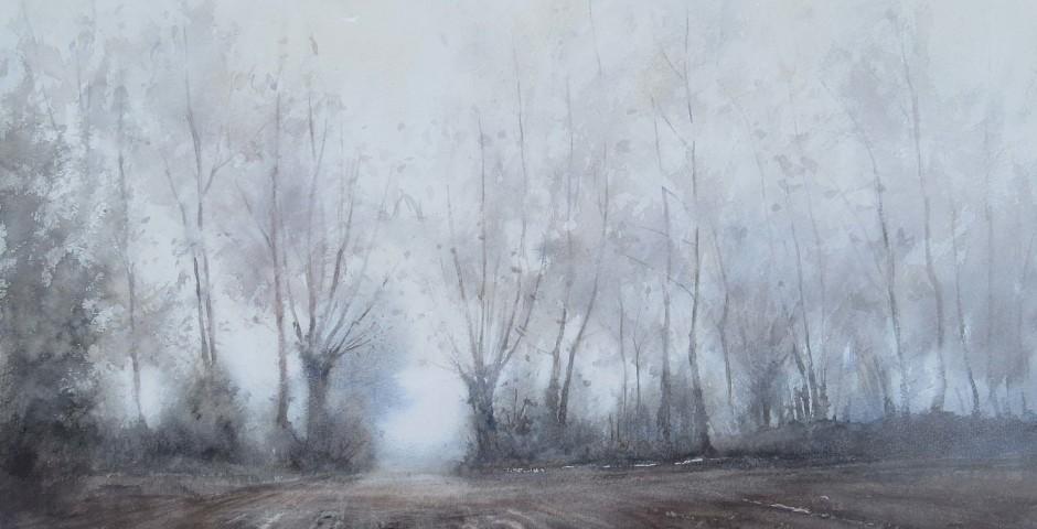 luogo della memoria - acquarello 55x65 - 2015