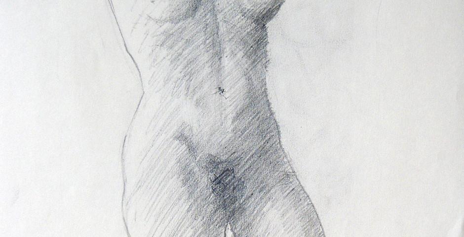 nudo - disegno a matita 50x35 - 2015