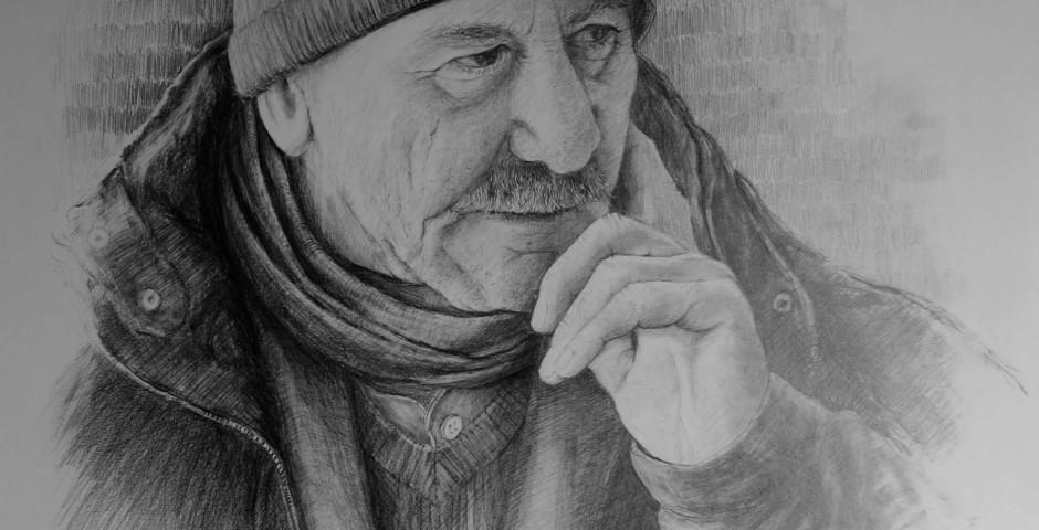 ritratto di Bilal - disegno a matita 70x50 - 2015