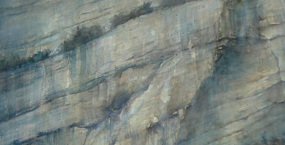 rocce - acquarello 55x65 - 2008