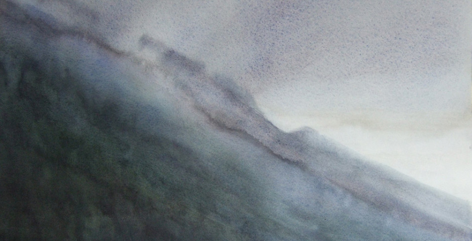 verso riva del garda - acquarello 50x70 - 2005